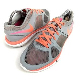 NIKE Flex Run Pink / Orange Running Shoes Size 6.5